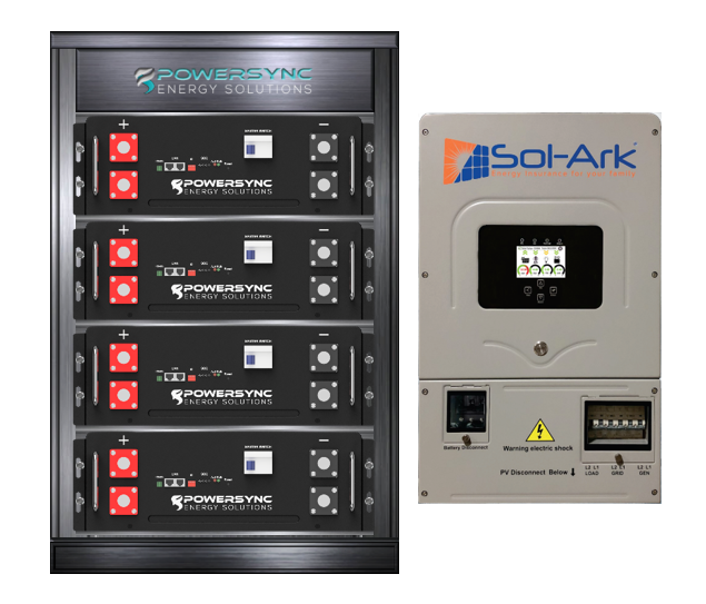 ESSYNC20-8K Lithium 20 KWh Energy Storage System With Sol-Ark 8K Hybrid Inverter