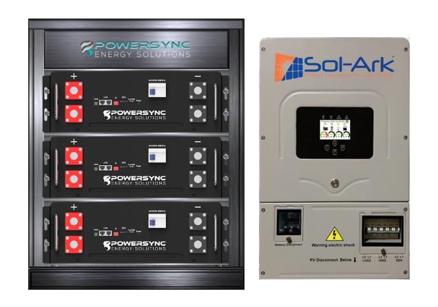ESSYNC15-8K Lithium 15 KWh Energy Storage System With Sol-Ark 8K Hybrid Inverter