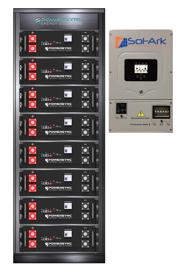 ESSYNC40-8K Lithium 40 KWh Energy Storage System With Sol-Ark 8K Hybrid Inverter