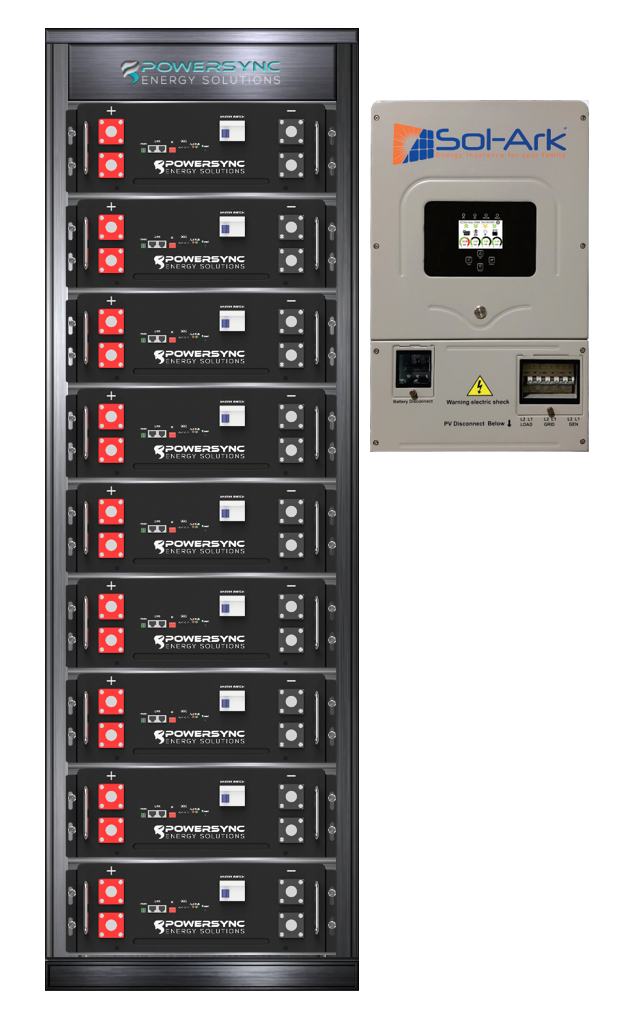 ESSYNC45-8K Lithium 45 KWh Energy Storage System With Sol-Ark 8K Hybrid Inverter