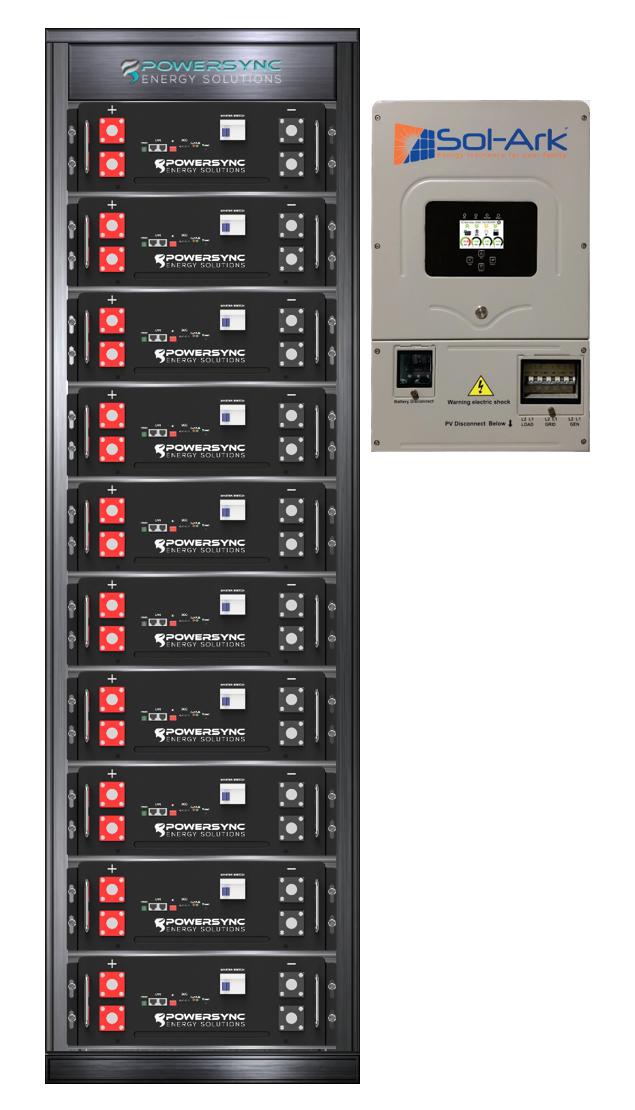 ESSYNC50-8K Lithium 50 KWh Energy Storage System With Sol-Ark 8K Hybrid Inverter
